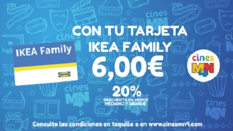 DISFRUTA EN CINES MN4 DE TU TARJETA IKEA Family