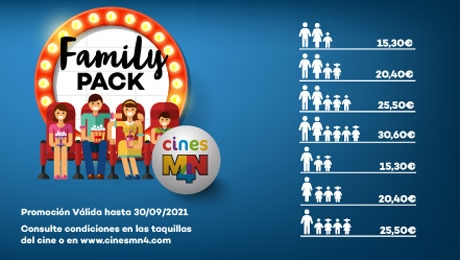 PACK FAMILIA   Disfruta de los mejores estrenos con tu familia por mucho menos!